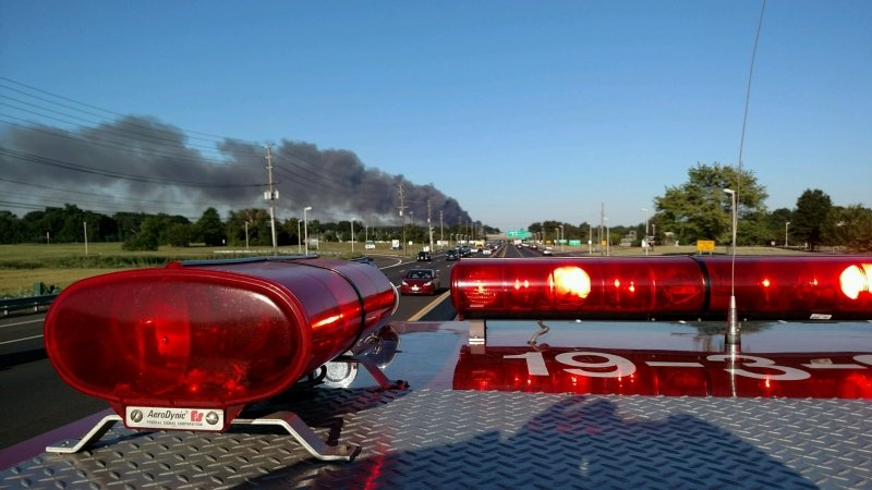 Southard Responds to Major Multi State Fire In North Brunswick