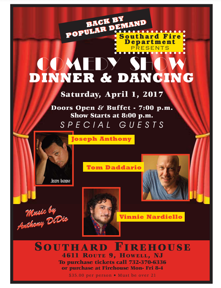 Comedy Shows are back at Southard Fire Dept !!!!!!!!!
