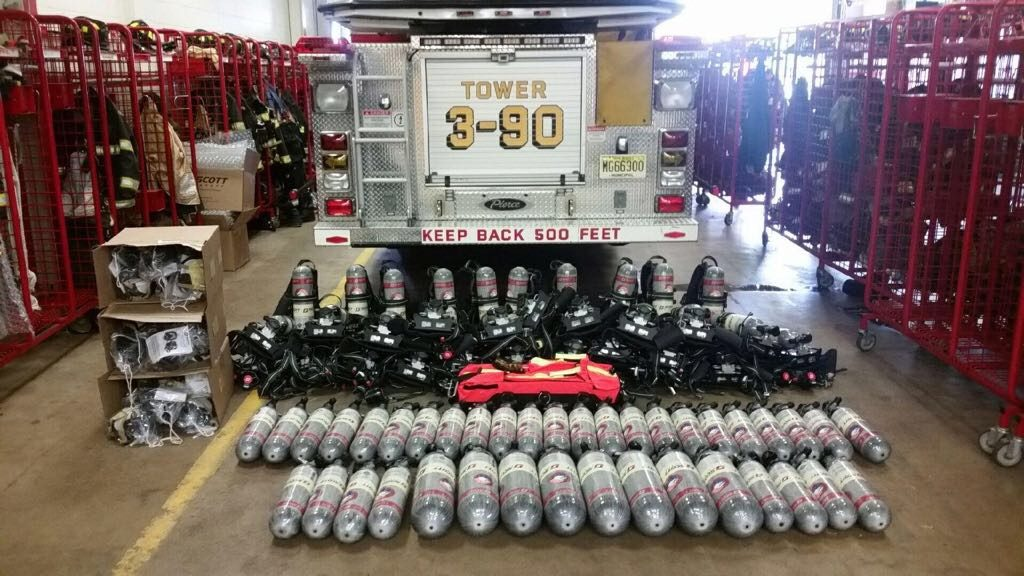 New Scott X3 SCBA's Delivered and Placed In Service